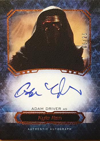 2016 Topps Star Wars Masterwork Adam Driver Autograph
