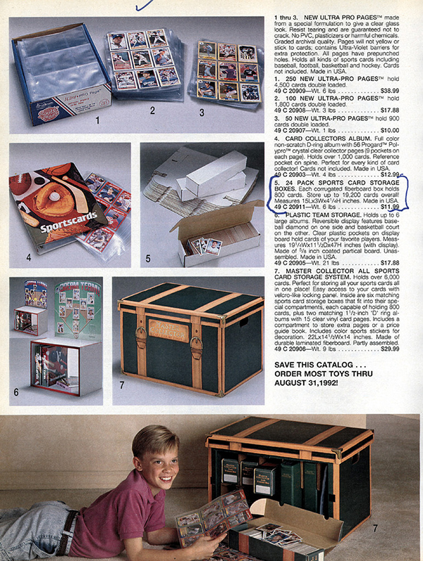 Sports Cards in the 1991 Sears Christmas Catalog