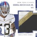 2016 Panini Encased Football Pro Bowl Jumbo Materials Sapphire