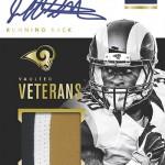 2016 Panini Encased Football Vaulted Veteran Material Signatures Gold
