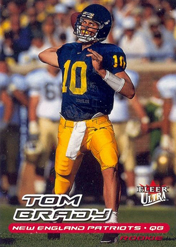 ad825df4676 Tom Brady Rookie Card Rankings  Countdown of the Best   Most Valuable