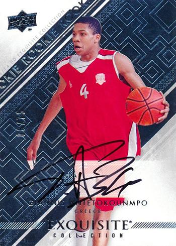 9e712a491685 2013-14 Exquisite Collection Giannis Antetokounmpo Autograph