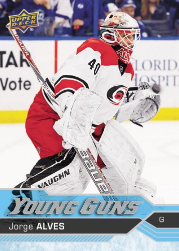 2016 17 NHL Upper Deck Young Guns Jorge Alves Rookie Card Front e1484949497859.'