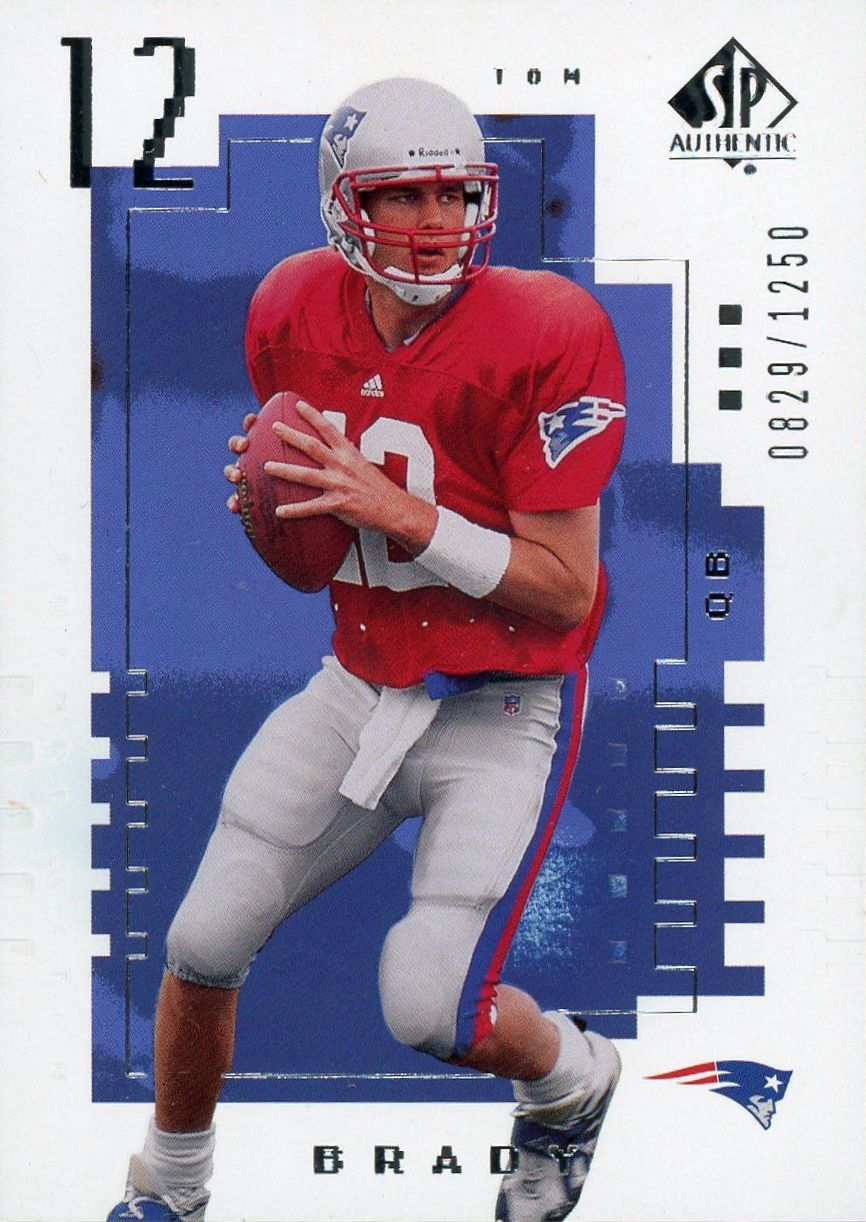 2000 Playoff Contenders Championship Ticket Tom Brady Sells