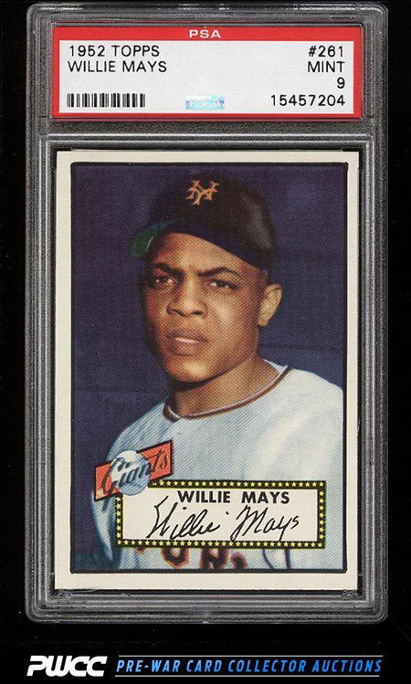 1952 Topps Willie Mays Psa 9 Soars On Ebay