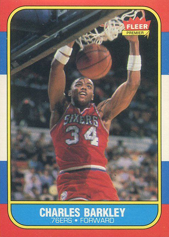 1986-87 Fleer Charles Barkley Rookie Card