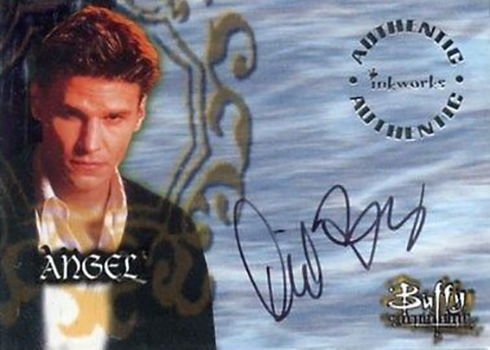 David Boreanaz Actor Angel Tv Show Autographed Signed Index Card Movies