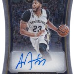 2016-17 Select Basketball Die-Cut Autographs Anthony Davis