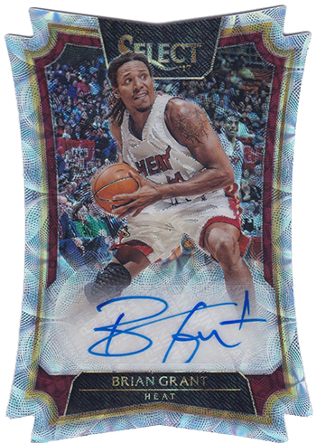 2016 17 select basketball die cut autographs scope brian grant