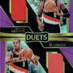 2016-17 Select Basketball Duets Purple Prizm