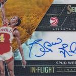 2016-17 Select Basketball In Flight Autographs Orange Prizm Spud Webb