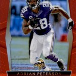 2016 Select Football Prizm Red Adrian Peterson