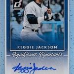 2017 Donruss Baseball Significant Signatures Reggie Jackson