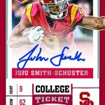 2017 Panini Contenders Draft Picks Football College Ticket Autograph B