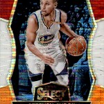 2016-17 Select Basketball Tri Color Prizm Curry