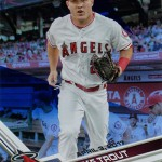 2017 Topps Opening Day Blue Foil Mike Trout