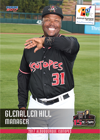 Glenallen Hill Poses With Giant Hairy Spider A Baseball Card