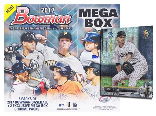 2017 Bowman Mega Box Checklist Details Shohei Otani Cards