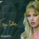 2017 James Bond Archives Gold Signature Tanya Roberts