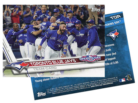 2017 Topps Opening Day Baseball Canadian Exclusive Card