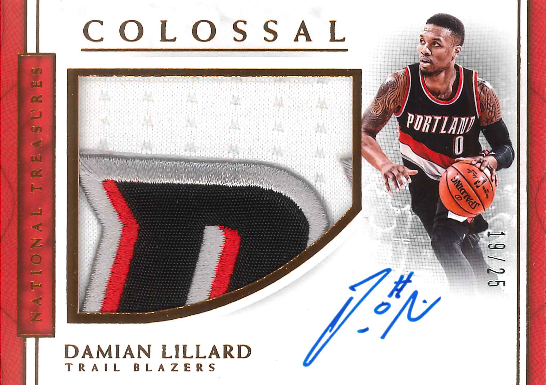 new style 5748b 773ca Damian Lillard signs autograph exclusive with Panini America
