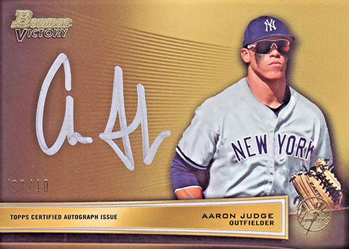 a0fb9705f2c 2013 Bowman Victory Aaron Judge Autograph - Beckett News