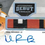 2016-17 Upper Deck Ultimate Collection Hockey Autographed Debut Threads Patch Ivan Provorov