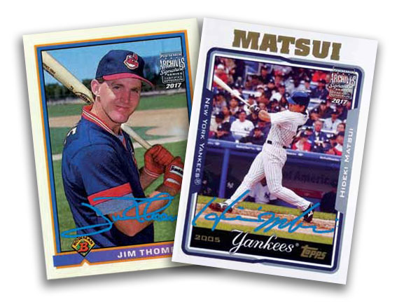 2017-Topps-Archives-Signature-Series-Baseball-Postseason-Edition-Jim-Thome-Hideki-Matsui