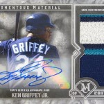 2017 Topps Museum Collection Momentous Material Jumbo Patch Autograph Ken Griffey Jr