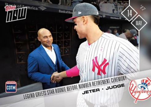 2017 Topps Now Card Of The Month Checklist Details