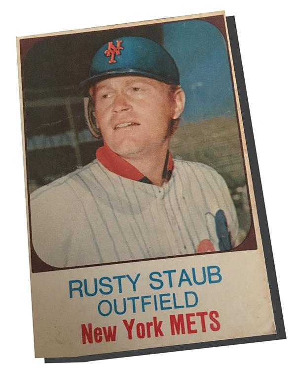 1975 Hostess Rusty Staub The Worst Airbrushed Baseball Card