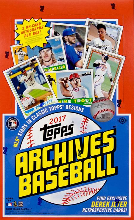 2017 Topps Archives Baseball Video Box Break
