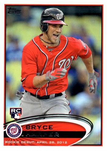 2012 Topps Bryce Harper 661 Rookie Card Variations Gallery