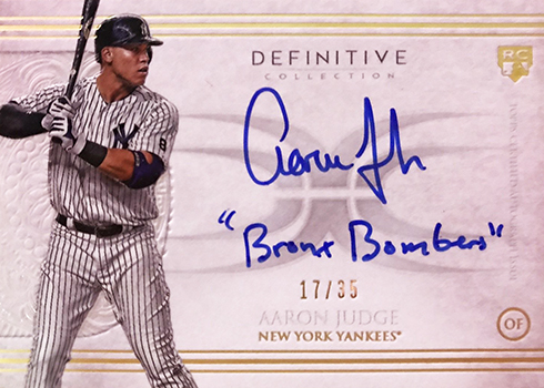 2017 Topps Definitive Collection Baseball Checklist Team Sets