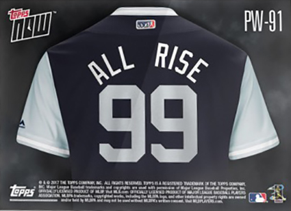 9de6bd6af9c ... from a Players Weekend game. The backs highlight the back of the player s  jersey. The vast majority have nicknames replacing the traditional  nameplates.