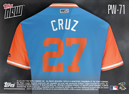 huge discount 23a95 4f511 2017 Topps Now Players Weekend Giancarlo Stanton Reverse ...