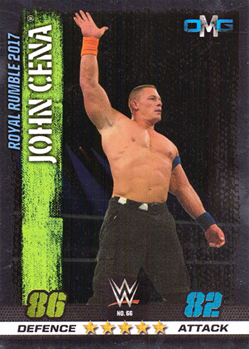 2017 Topps Wwe Slam Attax 10 Base Omg Moments John Cena