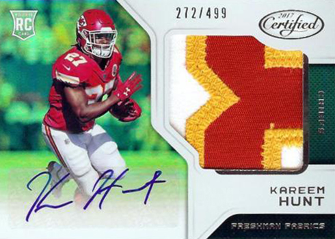 new concept c7d60 c01a8 Kareem Hunt Rookie Card Guide, Gallery and Details