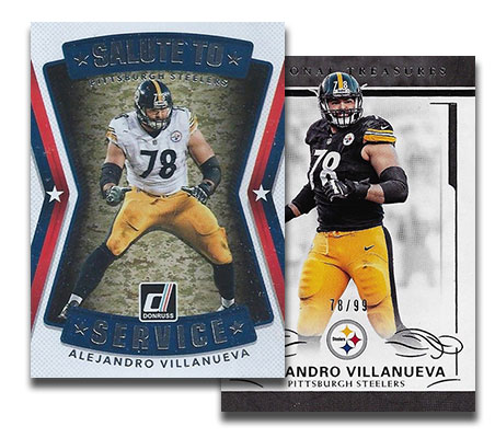 the best attitude c5351 f3cf7 Alejandro Villanueva Cards Spike Following Week 3