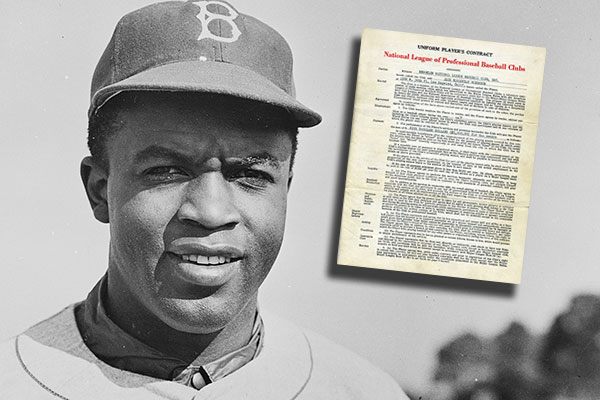 Jackie Robinsons First Contracts With Dodgers And Royals Being Sold