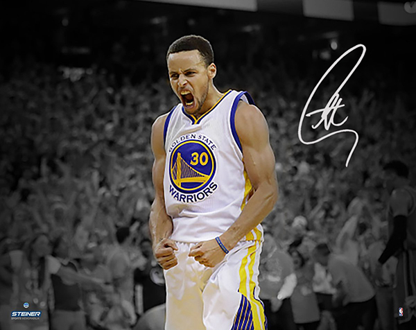 best cheap 69785 2cc12 Stephen Curry Signs Exclusive Autograph Deal with Steiner Sports
