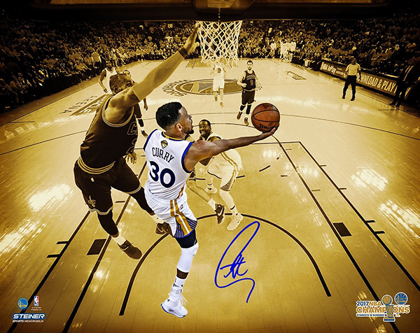 17b2a80c0ec Stephen Curry Signs Exclusive Autograph Deal with Steiner Sports