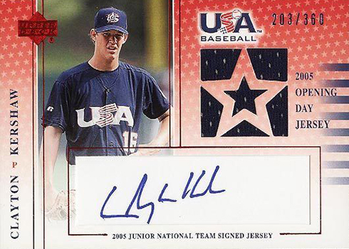 d8e57abb98b 2005-06 Upper Deck USA Baseball Junior National Team Opening Day Jersey  Signature Blue  CK  360