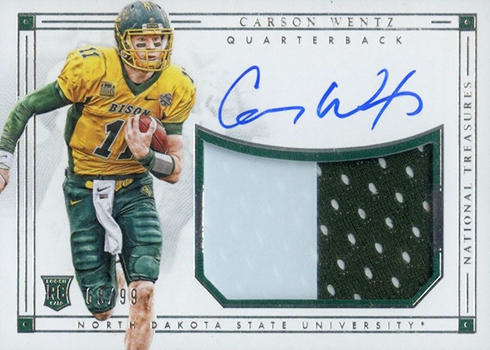 competitive price f0a90 c5ad1 Most Valuable Carson Wentz Rookie Card Rankings