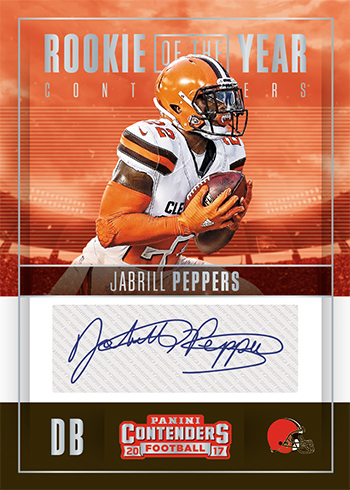 42e944075 2017 Panini Contenders Football Rookie of the Year Contenders Autographs