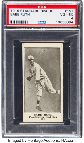 1916 Standard Biscuit Babe Ruth PSA 4
