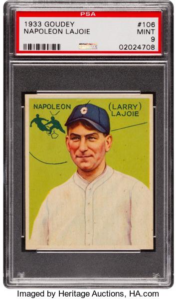 1933 Goudey Napoleon Lajoie PSA 9