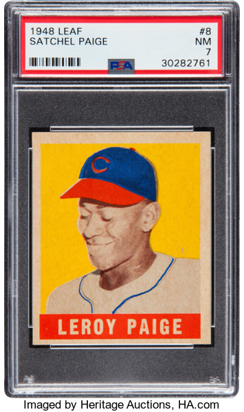 1948 Leaf Satchel Paige PSA 7