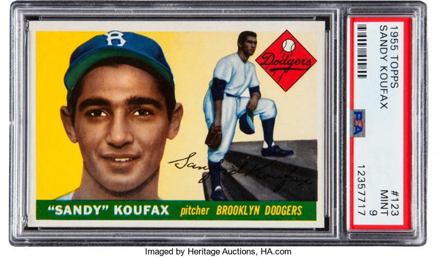 1955 Topps Sandy Koufax PSA 9