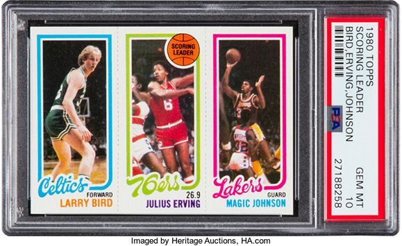 1980-81 Topps Larry Bird Magic Johnson RC